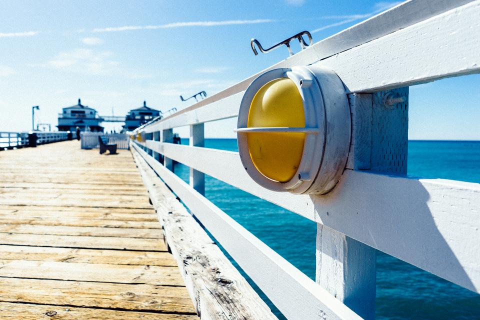 pier dock sunshine