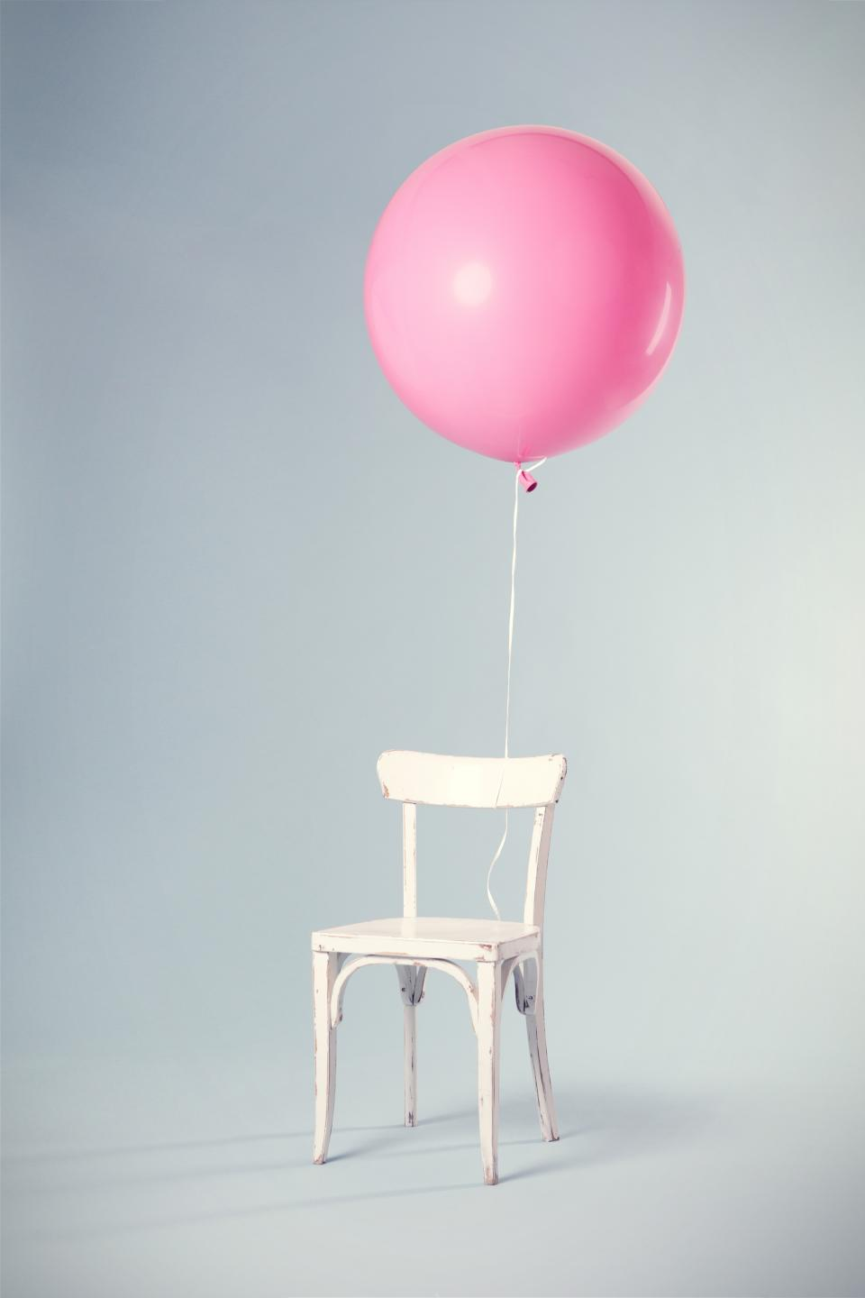 pink balloon chair