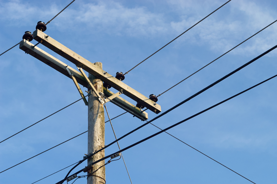 Free stock photo of power lines