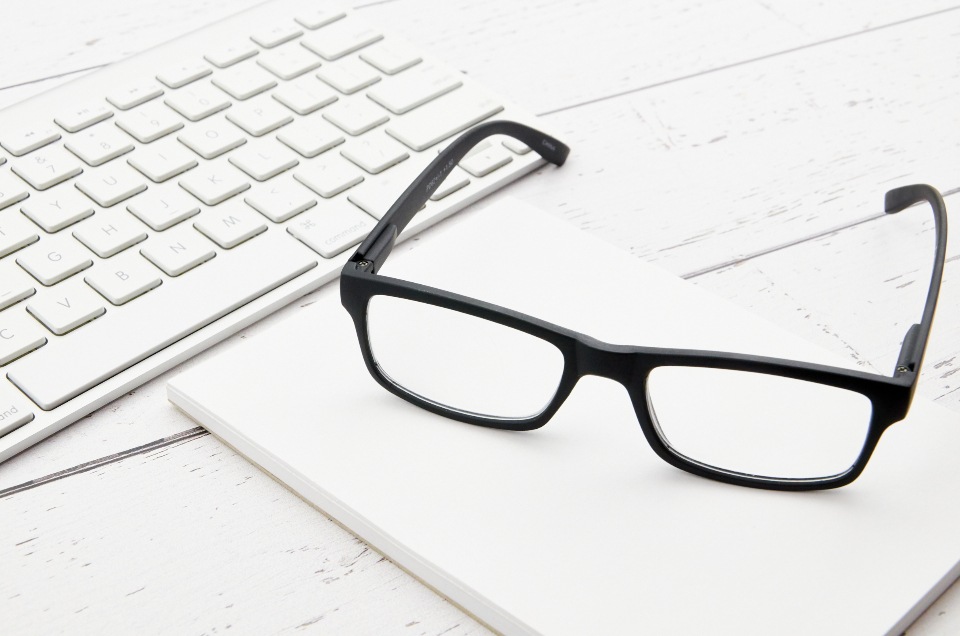 reading glasses desk