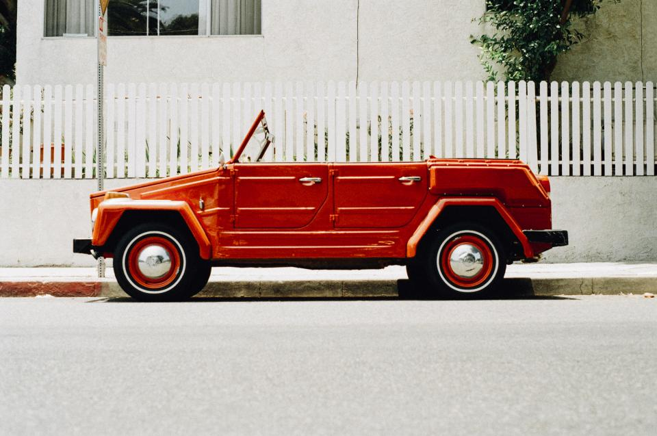 Free stock photo of red car