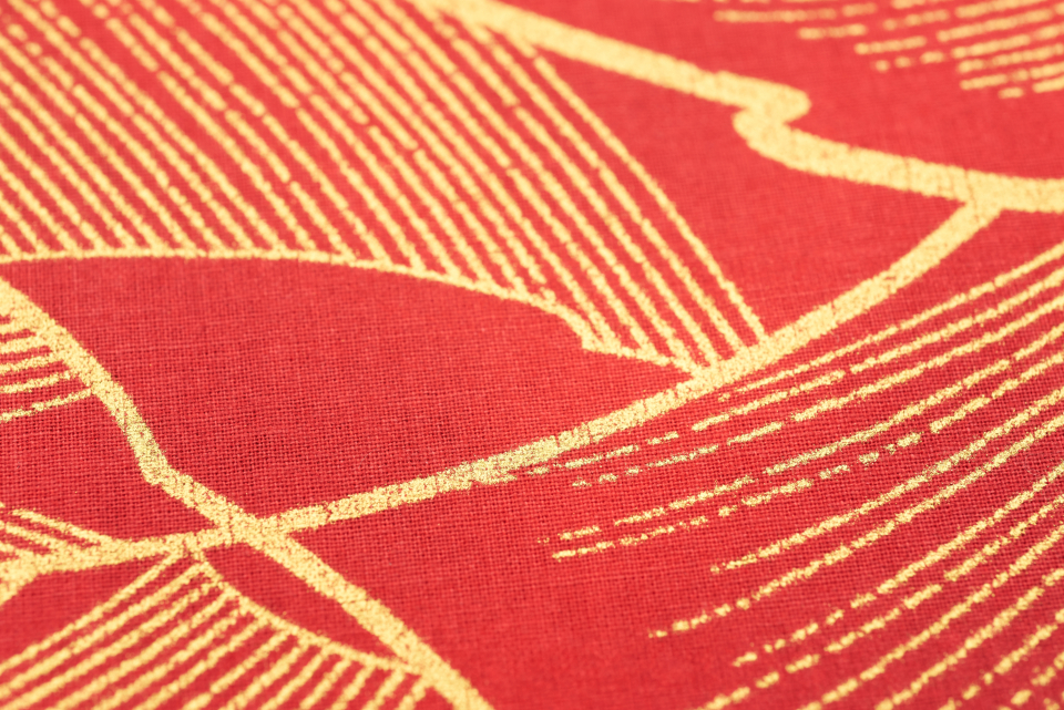 red gold fabric