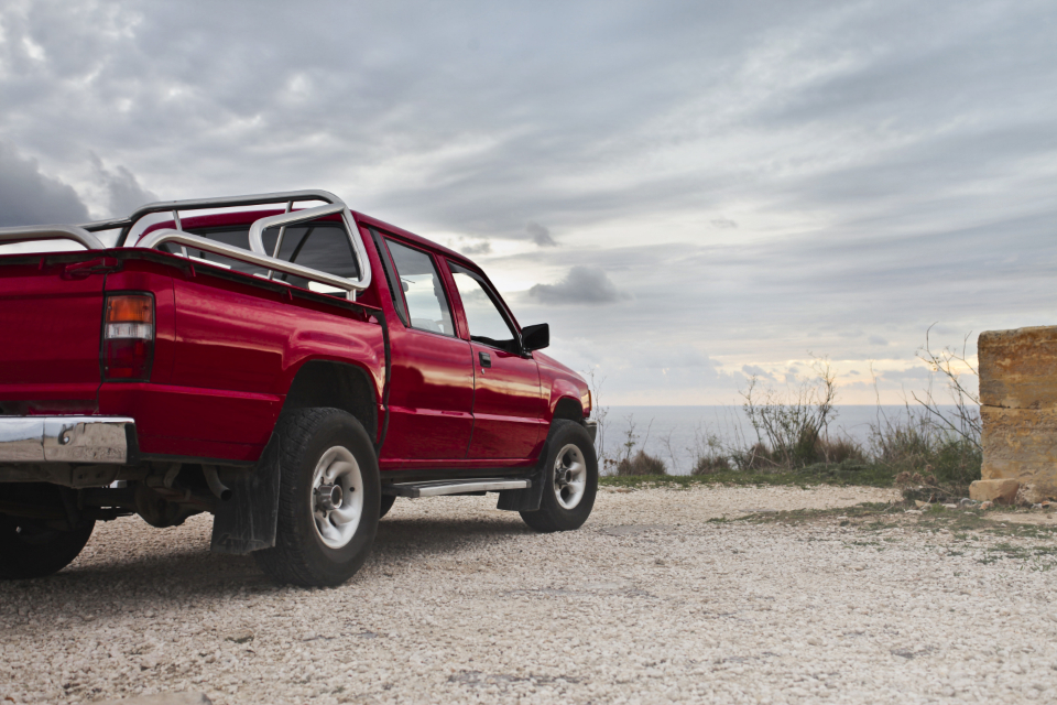 red offroad truck