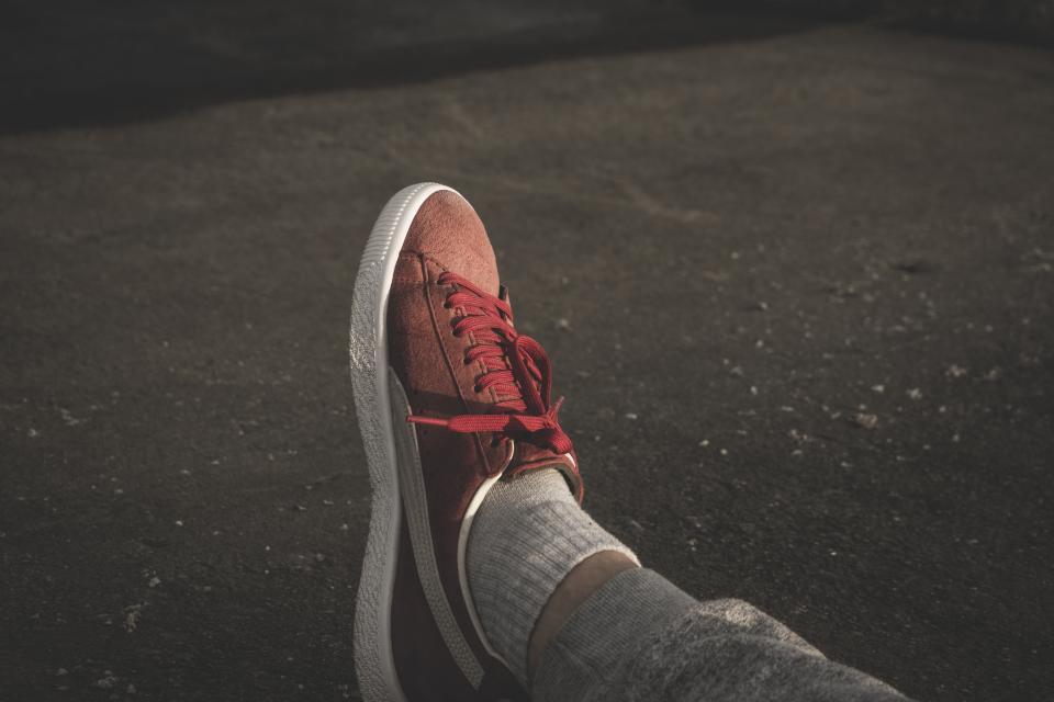 red sneakers shoe