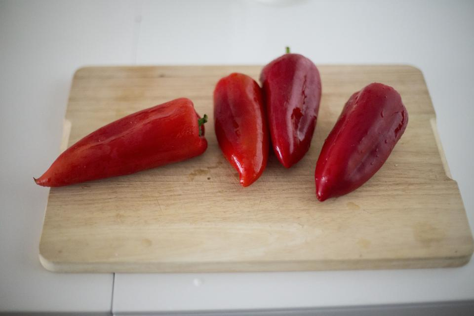 red vegetable food