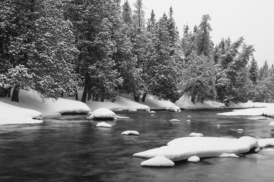 river water snow