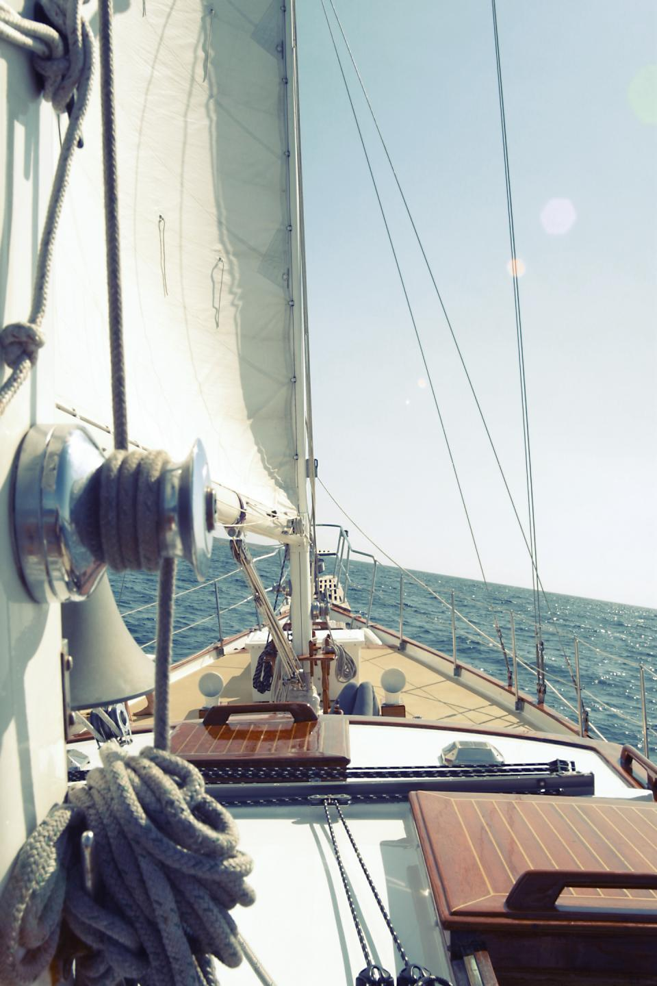sailboat sailing deck