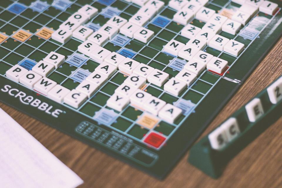 Free stock photo of scrabble board game