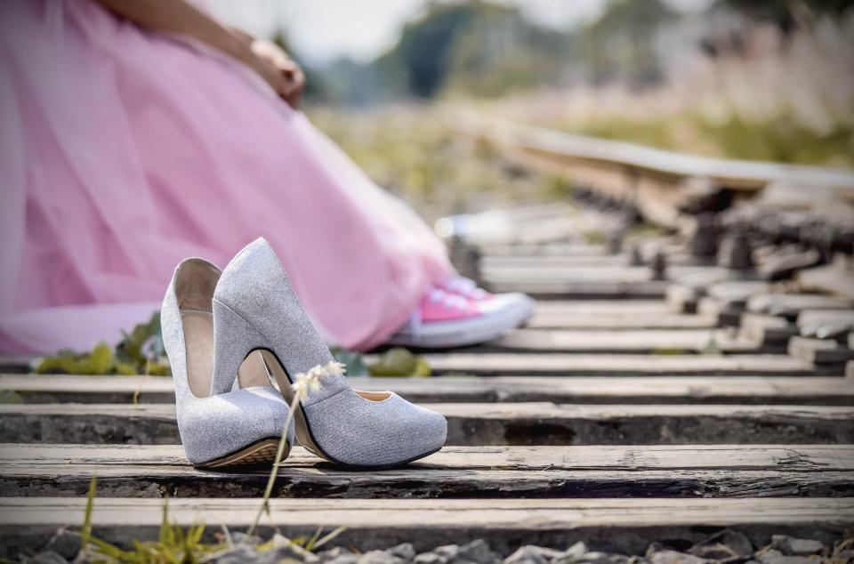 Free stock photo of shoes pink