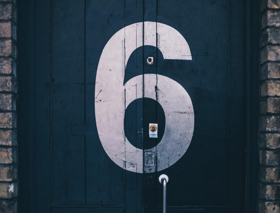 six number door