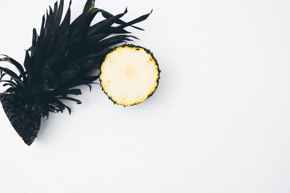 Free stock photo of slice pineapple