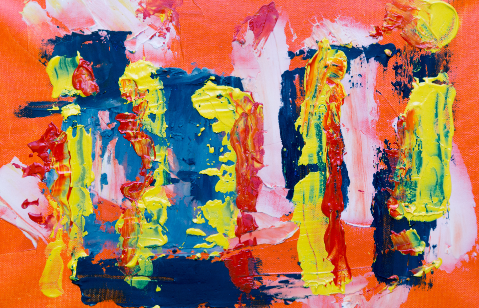 splatter abstract painting