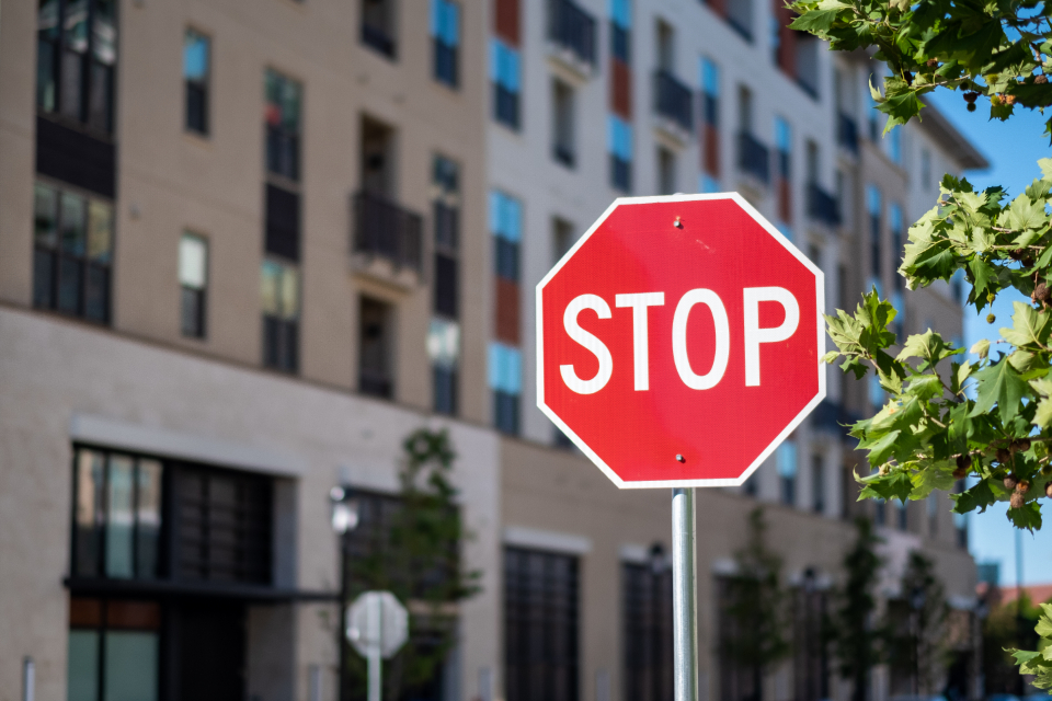 stop sign city