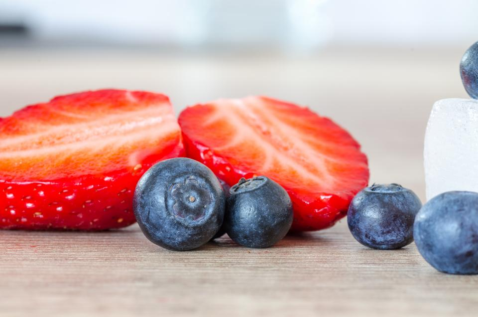 strawberry blueberry fruits