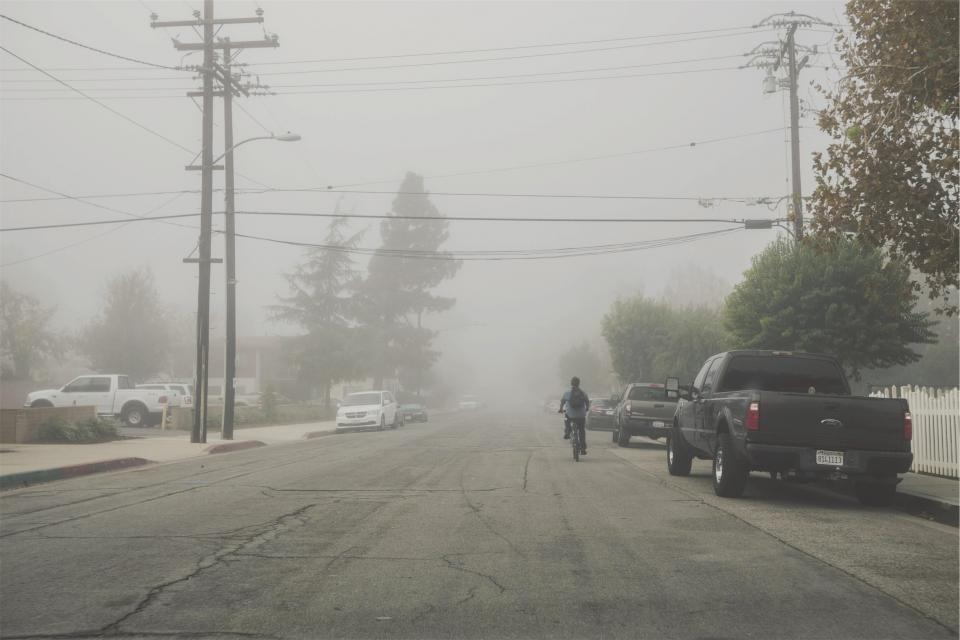 street pavement fog