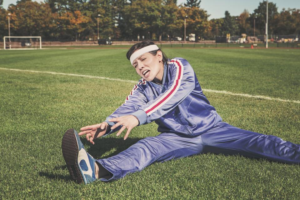 stretching tracksuit track and field