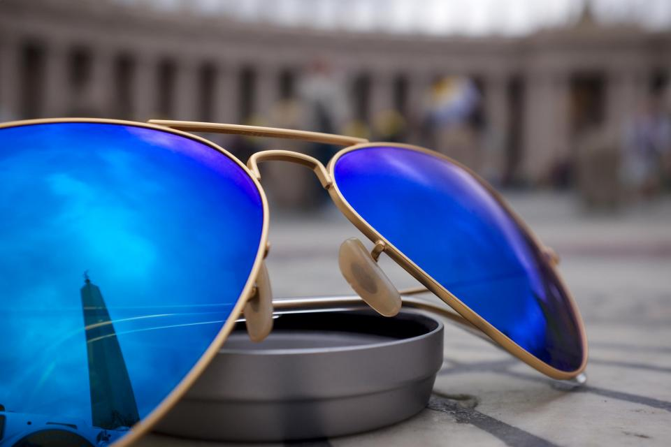 Free stock photo of sunglasses blue