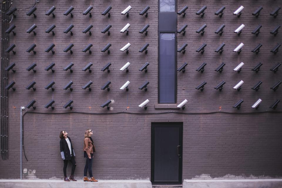 Free stock photo of surveillance bricks