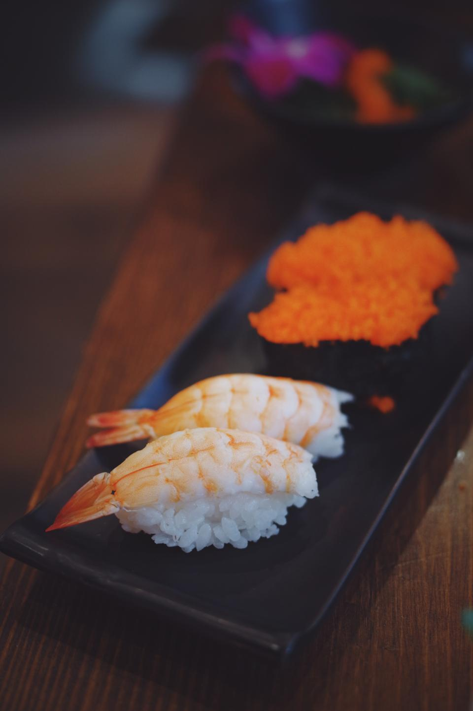 sushi food shrimp