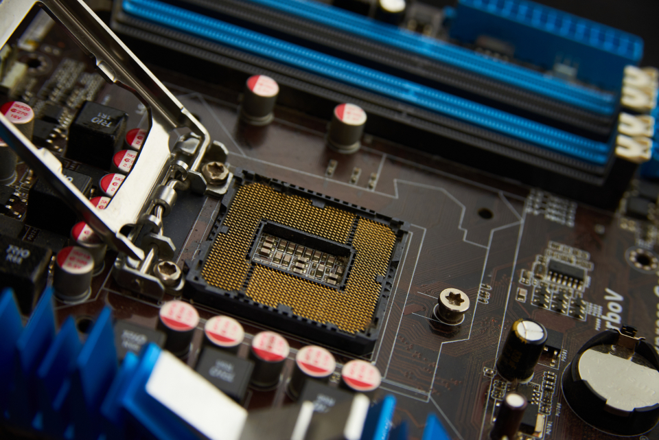 Free stock photo of technology motherboard