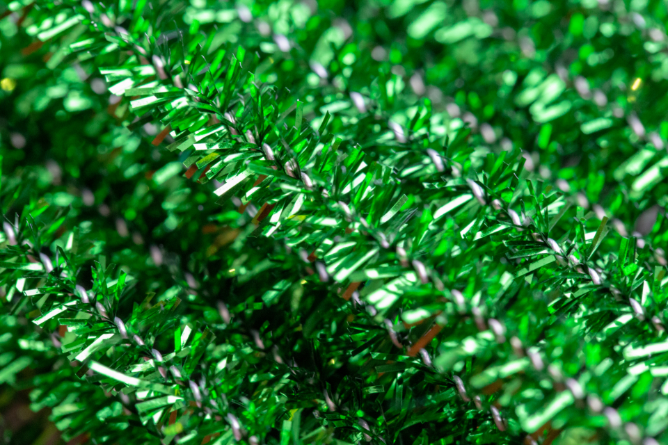 tinsel texture close up