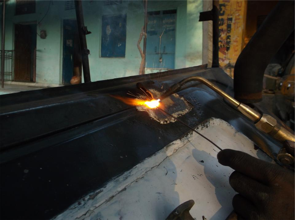 torch welding flame