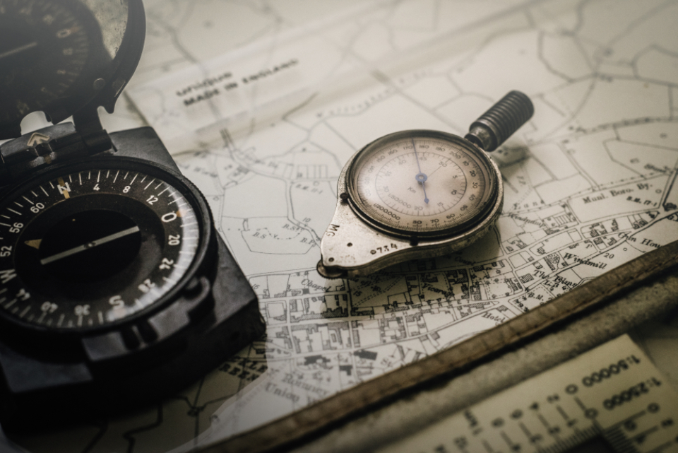 Free stock photo of vintage compass