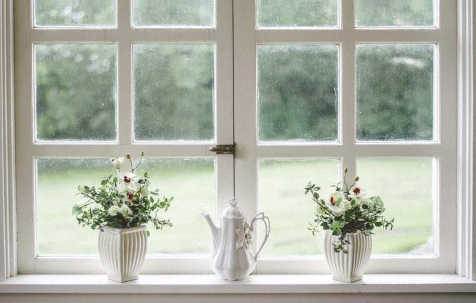 white window glass