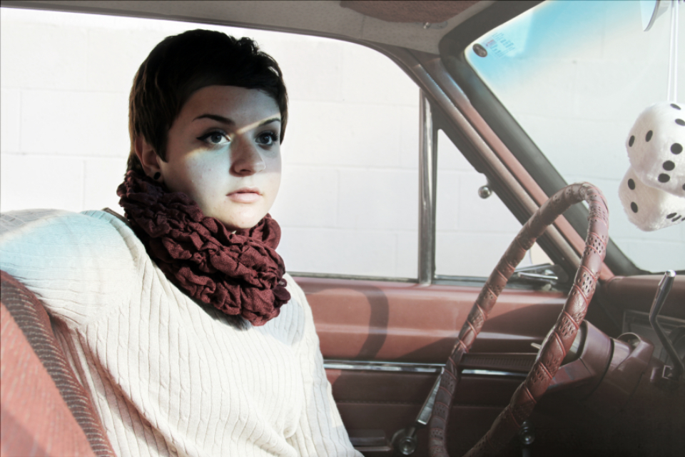 woman car portrait