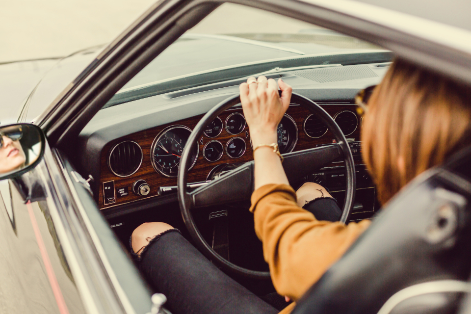 Free stock photo of woman driving