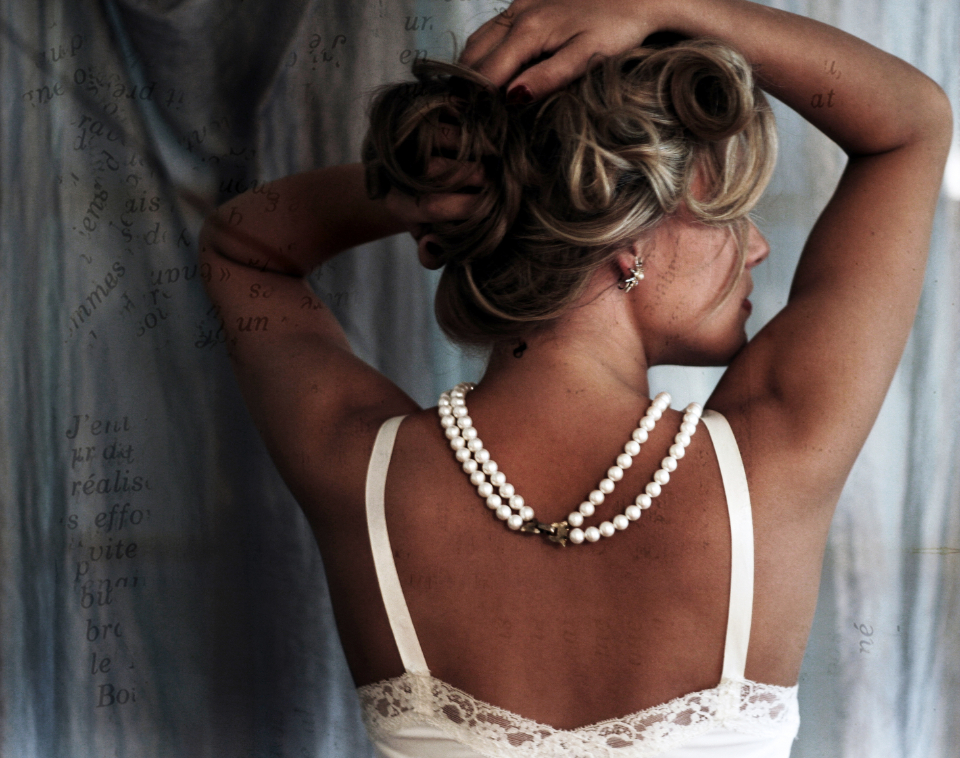 Free stock photo of woman pearls