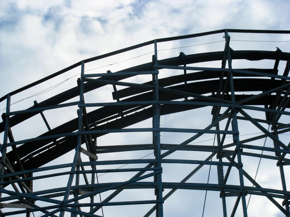 Free stock photo of wood rollercoaster