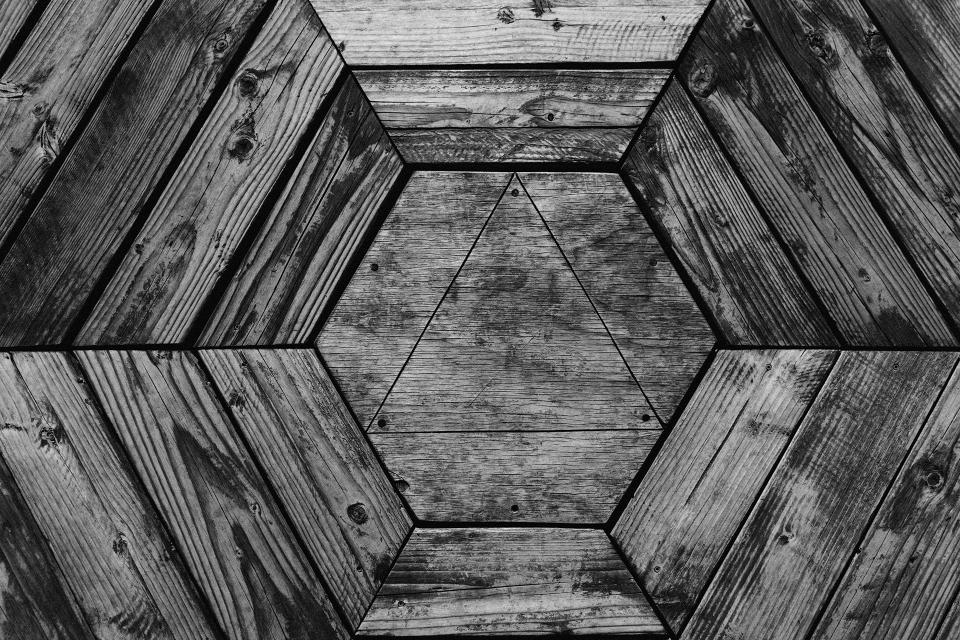 wood texture hexagon