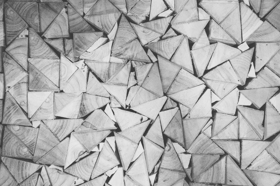 Free stock photo of wood triangles