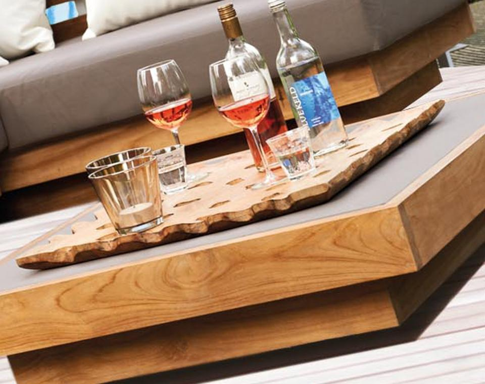 wooden table shot