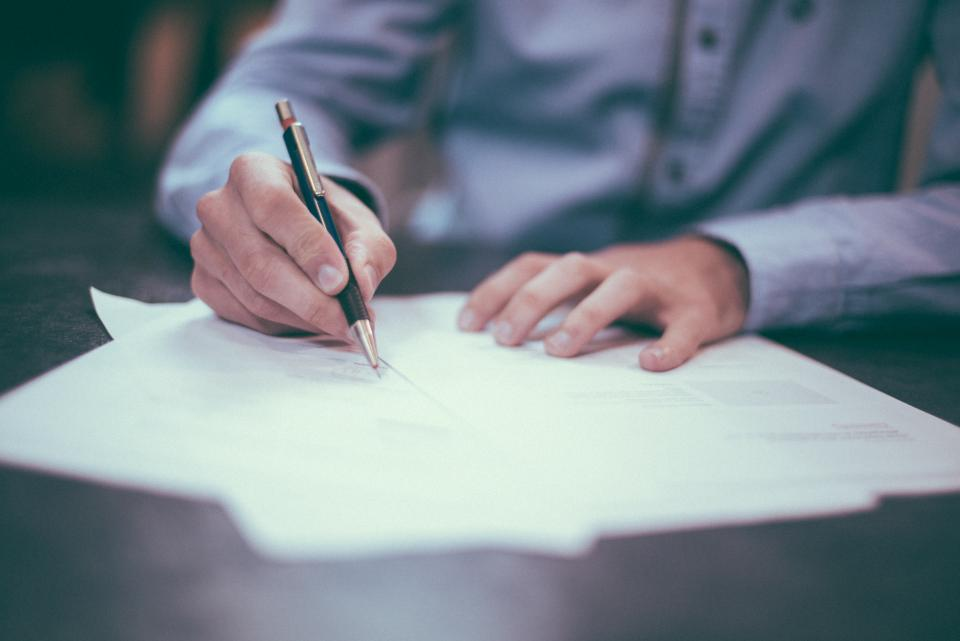 Free stock photo of writing paper