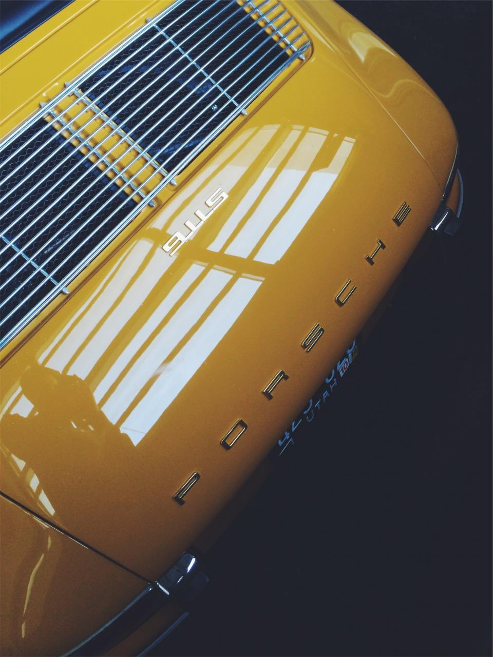 Free stock photo of yellow Porsche