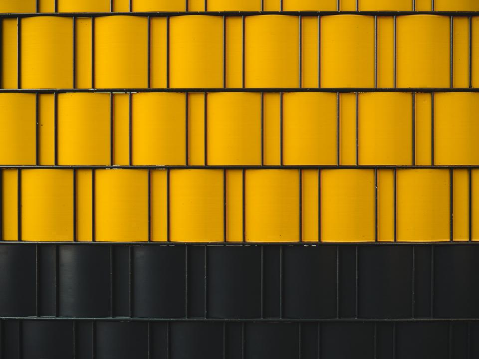 yellow black wall