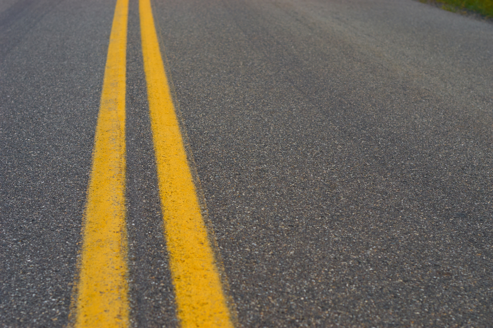 yellow lines road