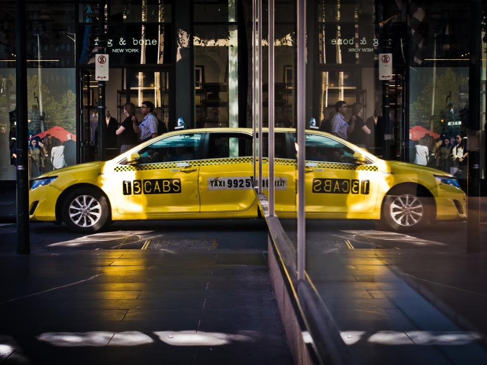 Free stock photo of yellow taxi