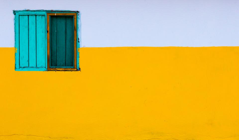 yellow white wall