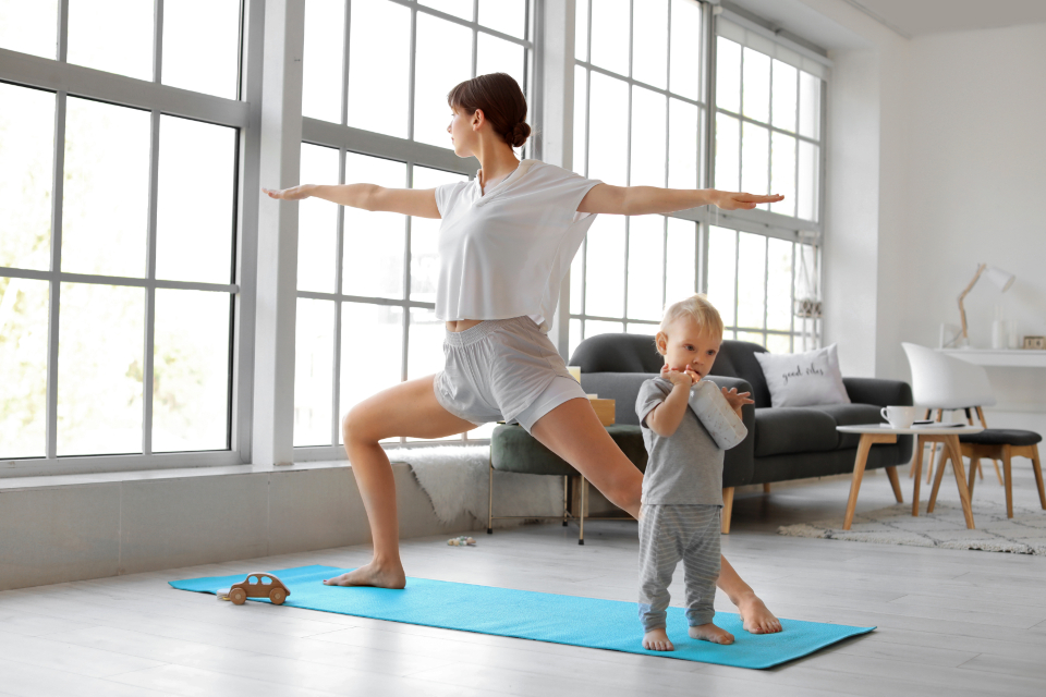 Free stock photo of yoga mom